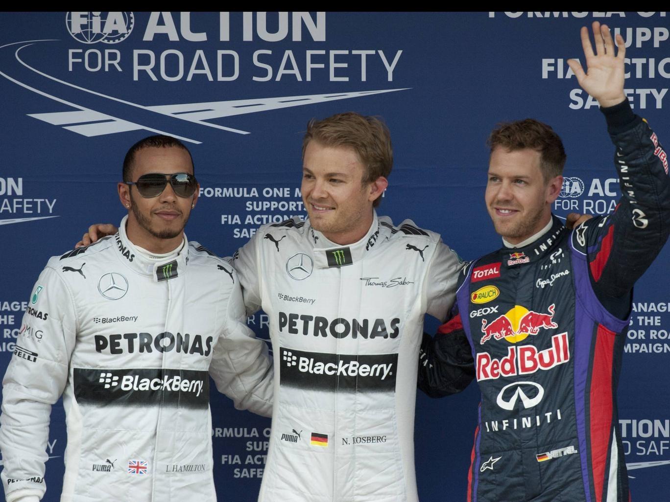 Nico Rosberg claims pole ahead of Lewis Hamilton and Sebastian Vettel for the Spanish GP