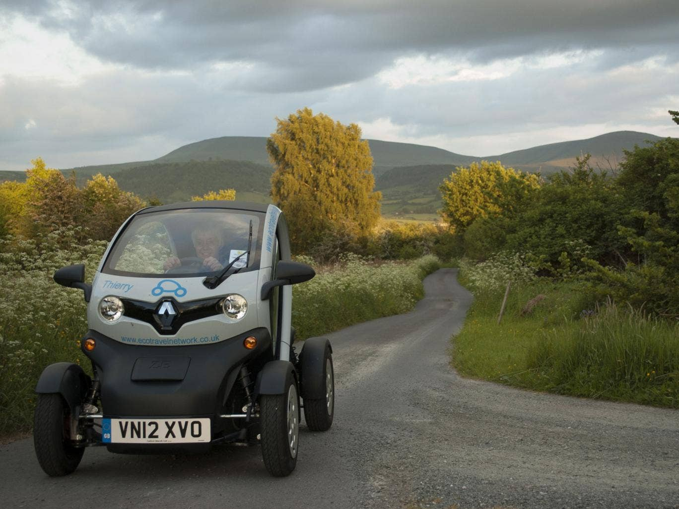 Welsh Road Trips includes the hire of a two-seat electric car