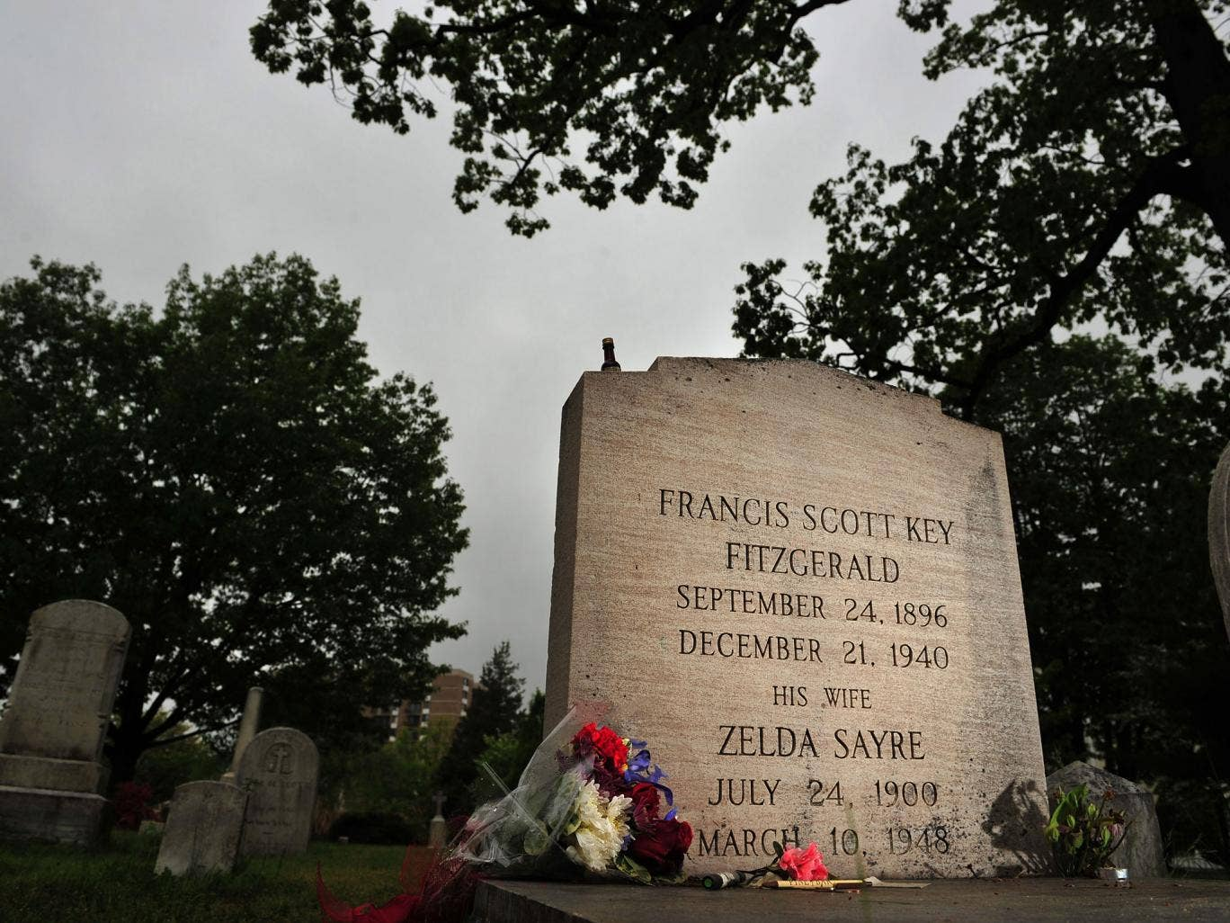 Final chapter: Fitzgerald and his wife Zelda lie in the Catholic cemetery in Rockville