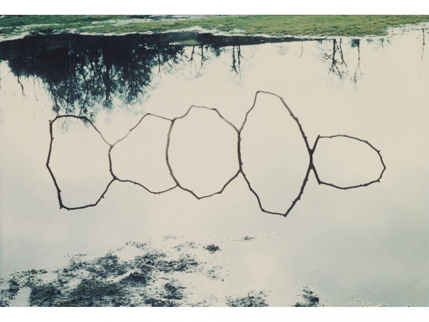 Natural-born talent: Andy Goldsworthy's Forked Twigs in Water-Bentham (1979