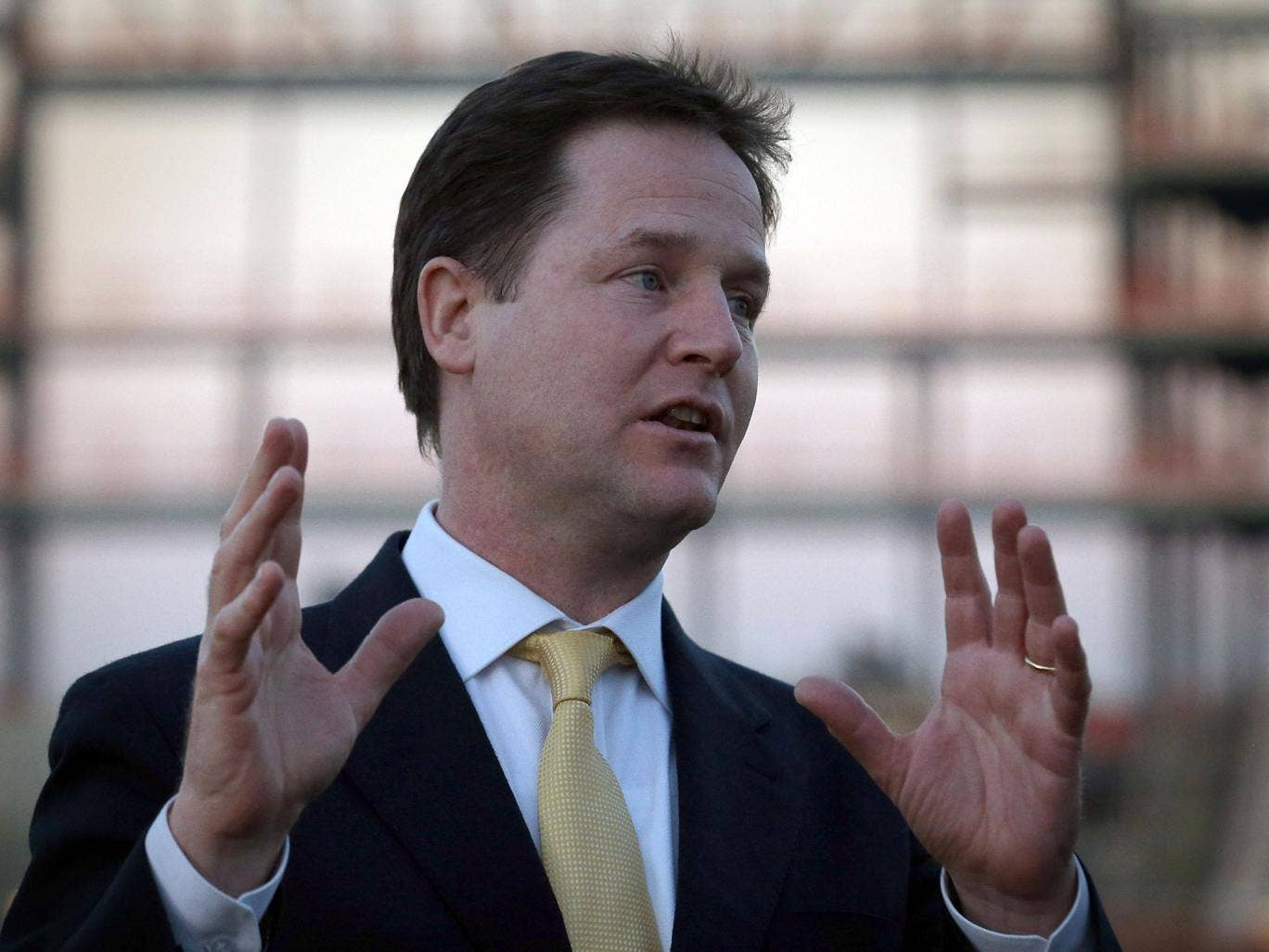 Nick Clegg accused the Conservative Party of 'endless navel-gazing'