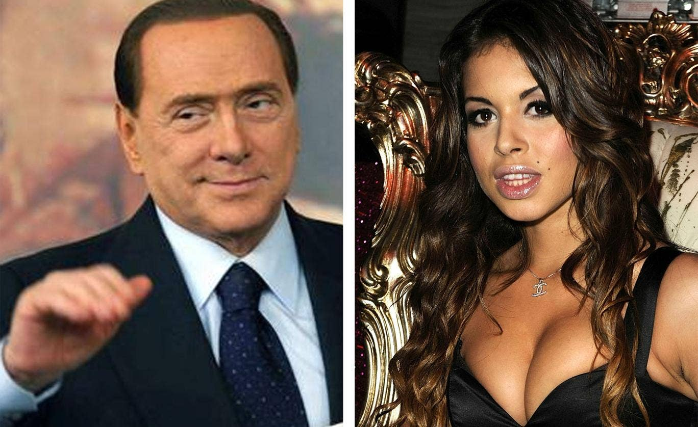 Silvio Berlusconi and Karima El-Mahroug, who has become better known as Ruby the Heartstealer