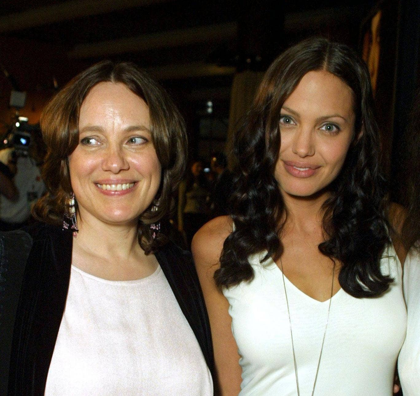 Angelina Jolie and her mother Marcheline Bertrand 31 Jul 2001. The actress has undergone a double mastectomy having been given an 87% chance of contracting breast cancer. Her mother died of the disease aged 56.