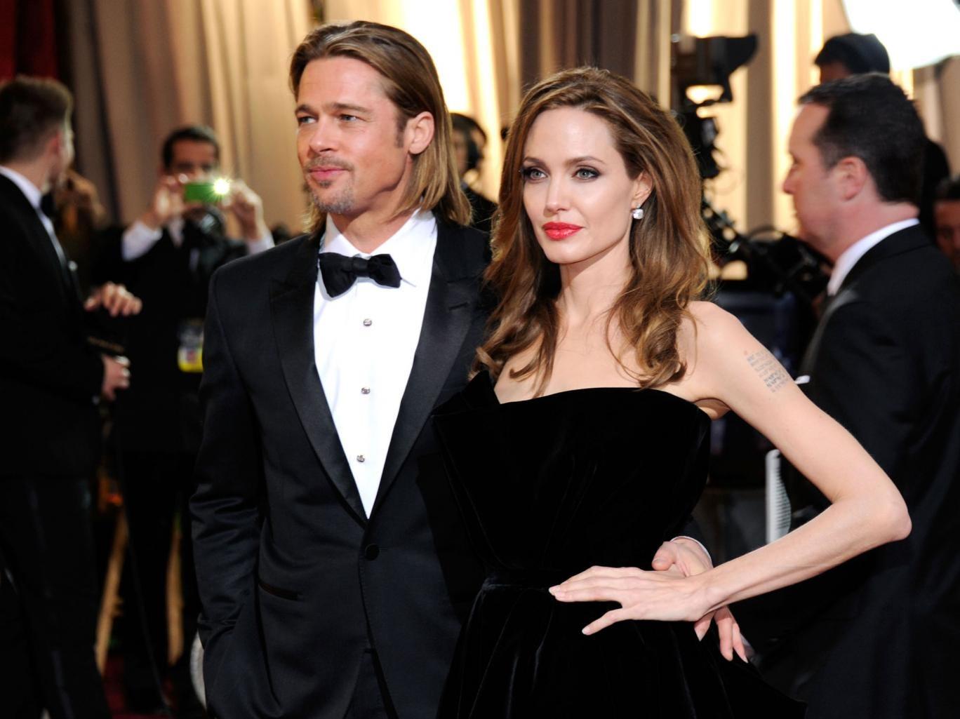 Brad Pitt and Angelina Jolie arrive at the Oscars