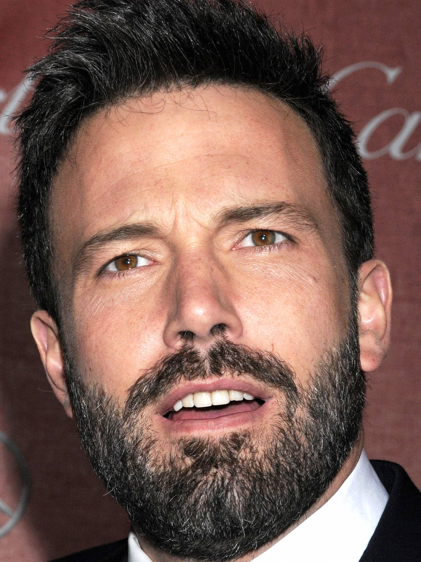 Bearded actor and director Ben Affleck