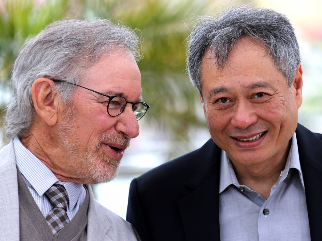 Steven Spielberg and Ang Lee at Cannes
