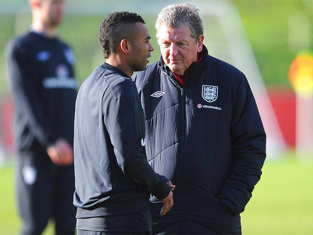 Roy Hodgson wants Ashley Cole to be captain in recognition of the defender winning his 100th cap
