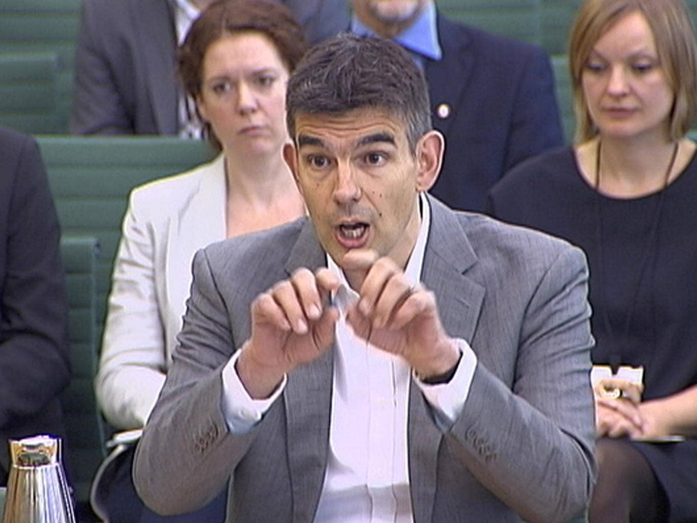 16 May 2013: Google's Northern Europe boss, Matt Brittin, testifies to the British parliamentary Public Accounts Committee about their taxation practices in London