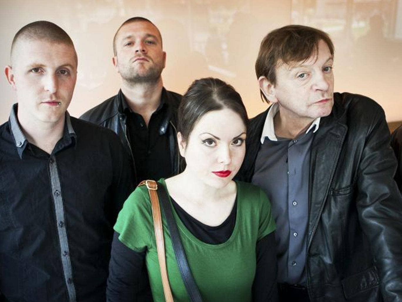 Anti-hero: Mark E Smith (right), his wife, Elena Poulou, and the rest of The Fall