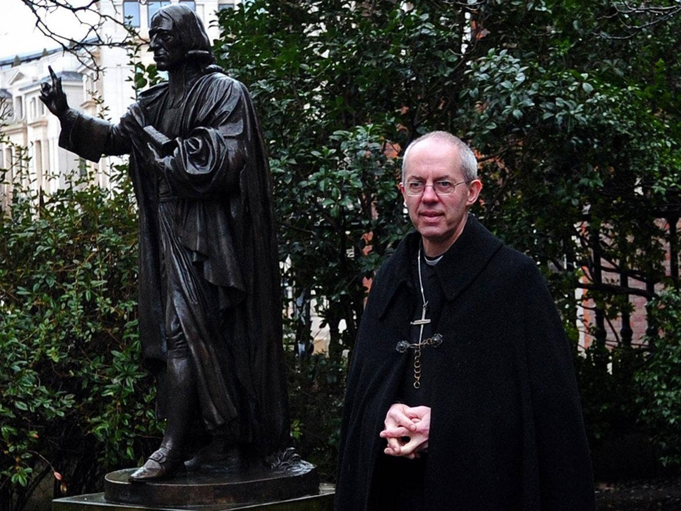 Justin Welby has abandoned his support for civil partnerships for heterosexual couples
