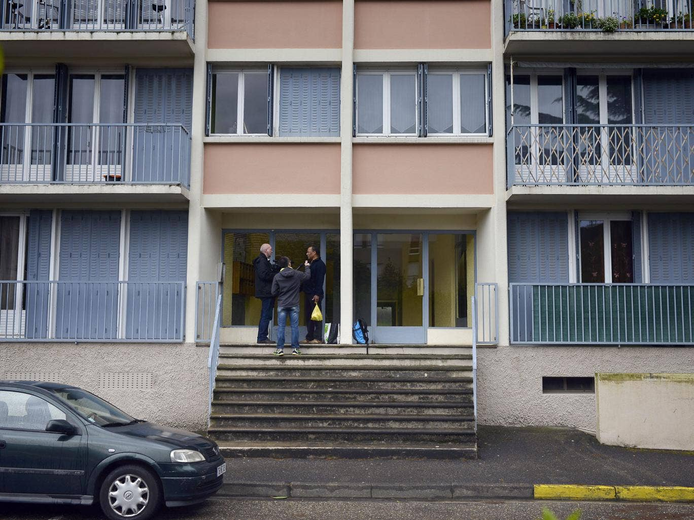 The apartment building where the bodies of two children, aged 5 and 10, were discovered