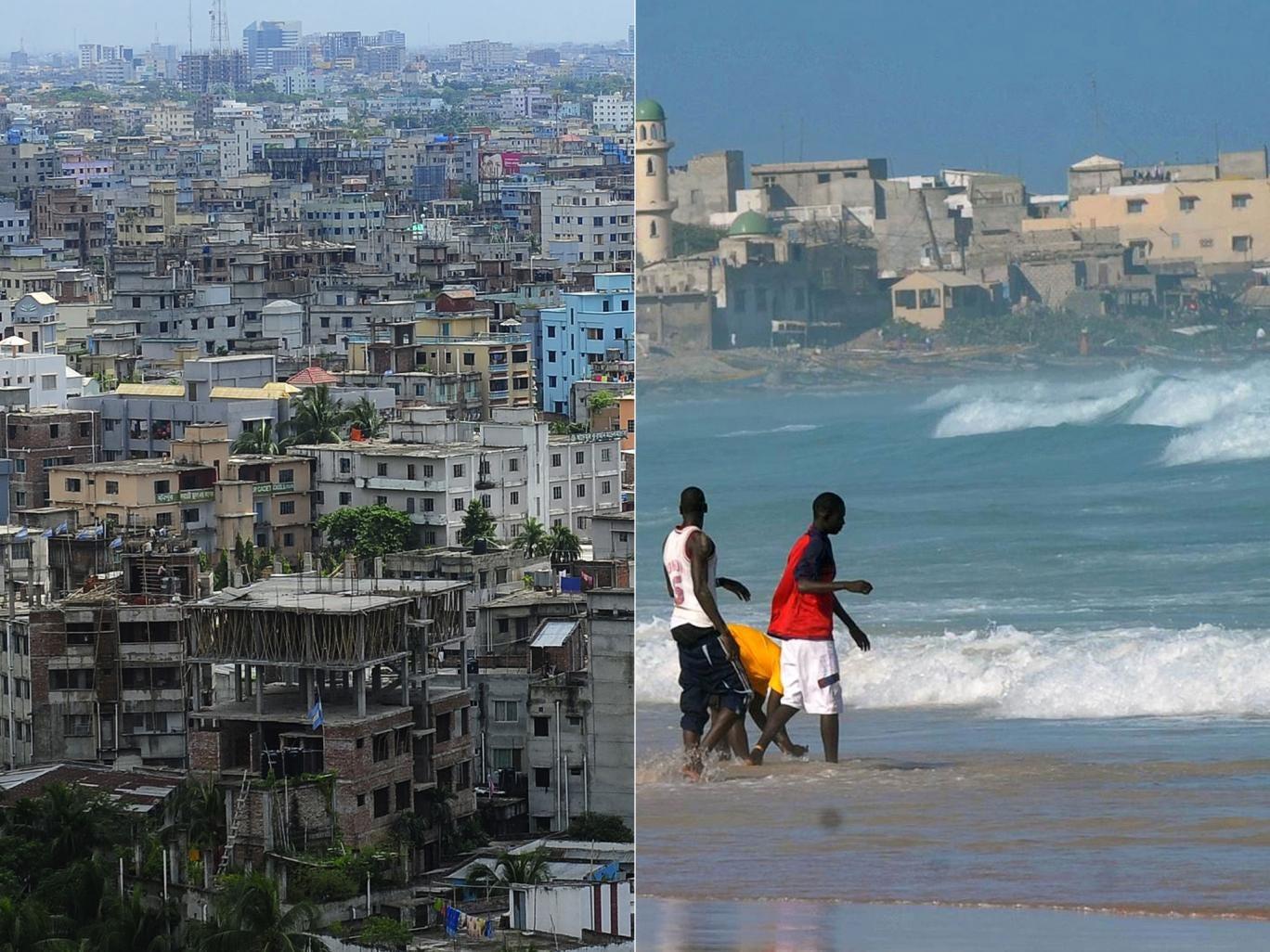 Dhaka and Dakar