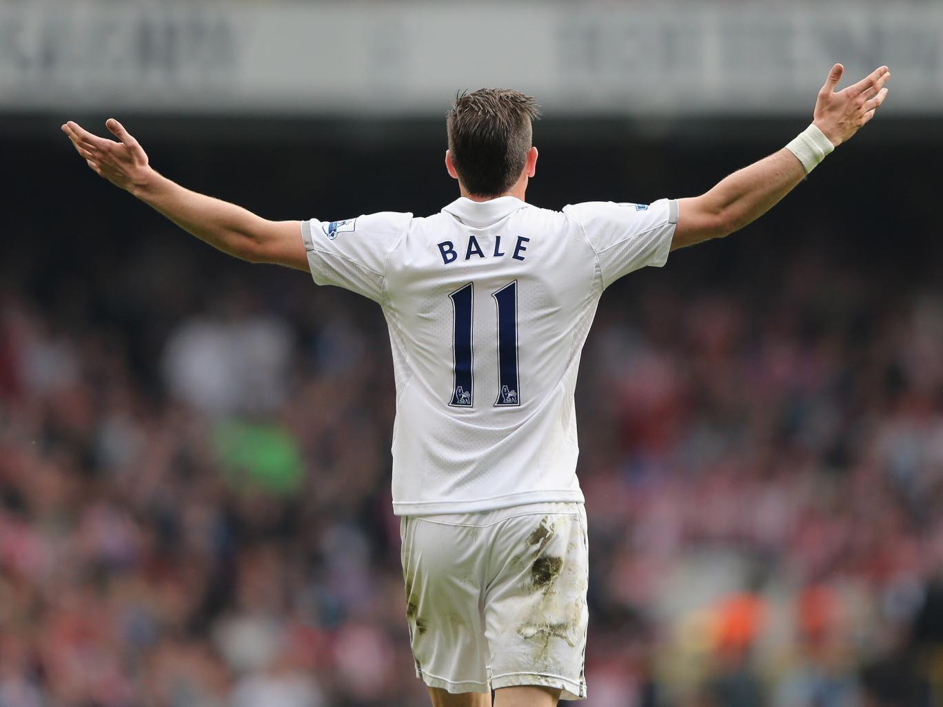 Gareth Bale celebrates his winner against Sunderland