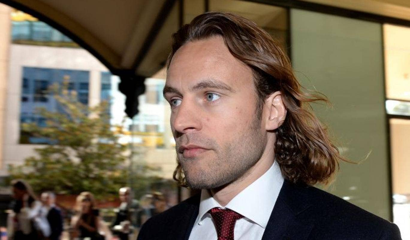 British entrepreneur Gregory Cox arrives at the Downing Centre District Court in Sydney