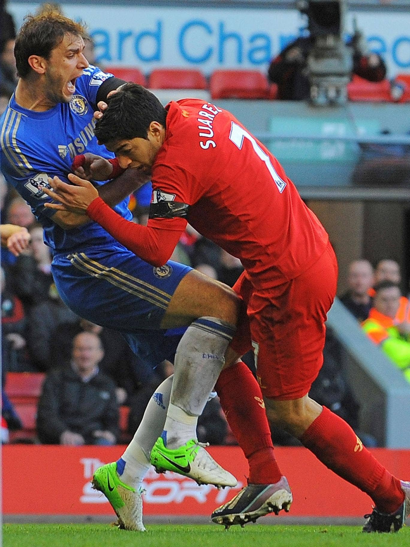 Despite James Lawton's plea following the Olympics the season featured unsavoury incidents such as Luis Suarez's attack on Branislav Ivanovic