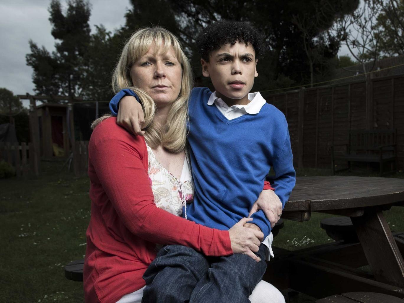 Julie Harden and her son Elliot