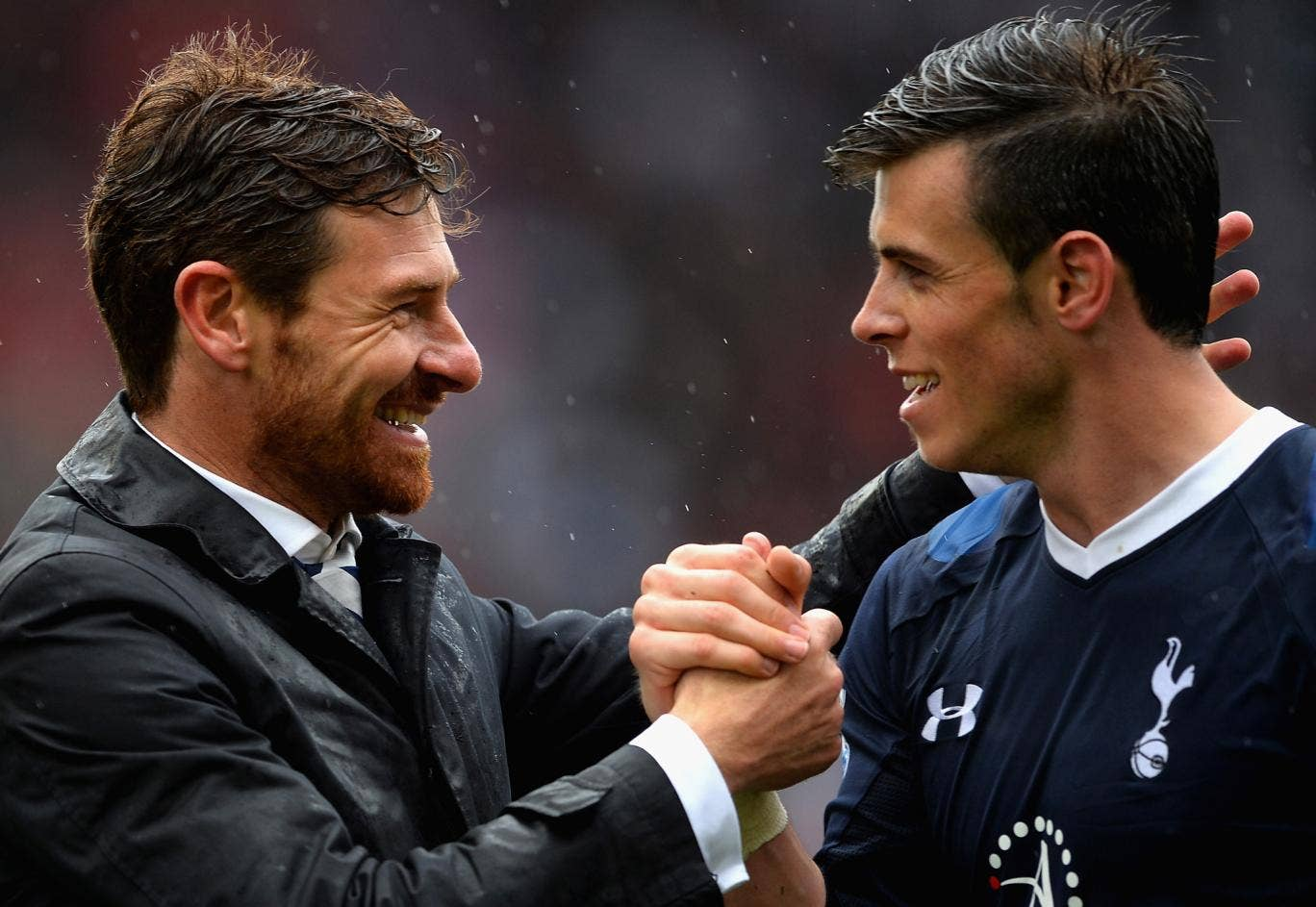 Andre Villas-Boas and Gareth Bale celebrate together but just how long will they both remain at Tottenham?