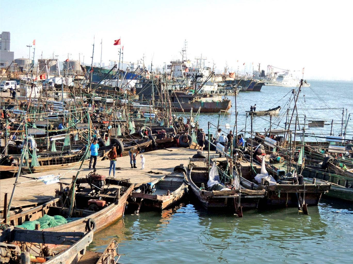 The fishing village at Dalian Bay, where a Chinese fishing boat was detained