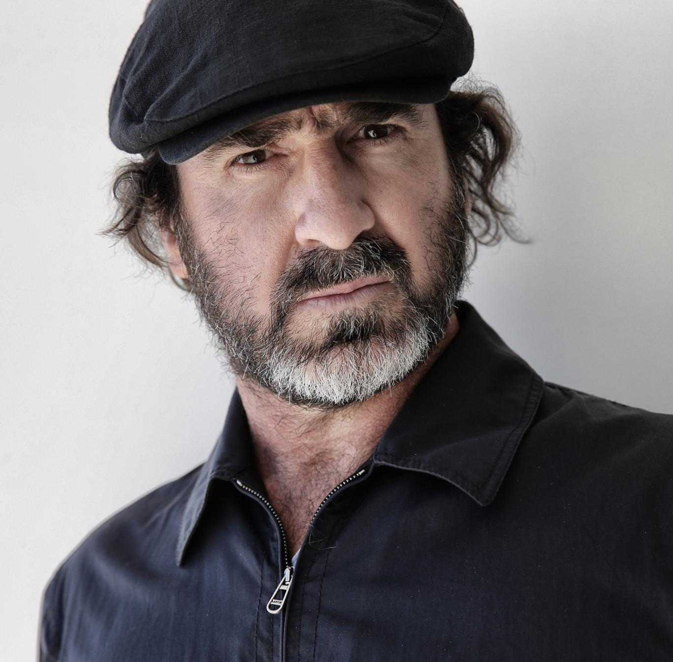 Eric Cantona posing at the Cannes Film Festival 2013