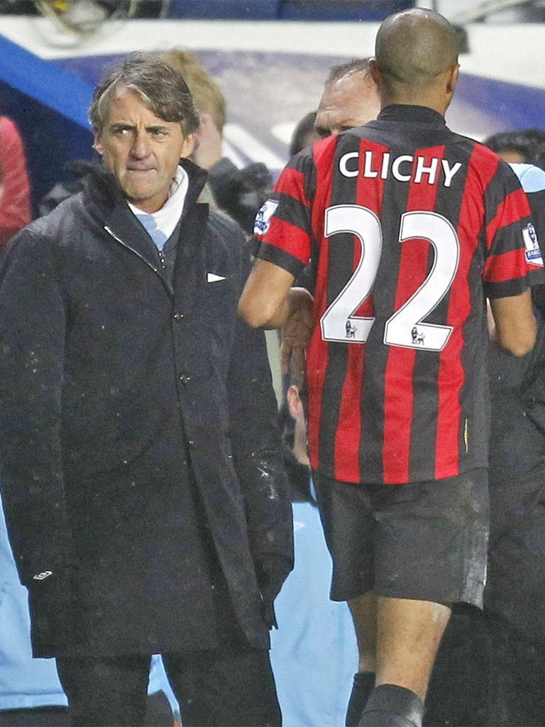 Gaël Clichy said Roberto Mancini had demanding standards
