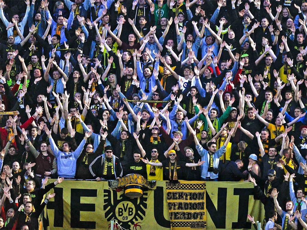 European Cup finalists Borussia Dortmund have a 25,000-capacity standing area