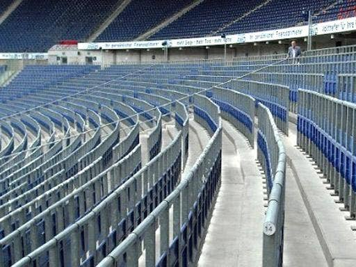German side Hannover 96's stadium. Rows of rail seats adapt to allow safe-standing areas when required