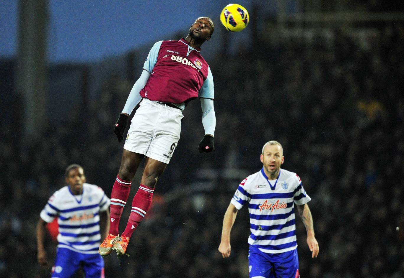 Carlton Cole in action for West Ham against Reading earlier in the season