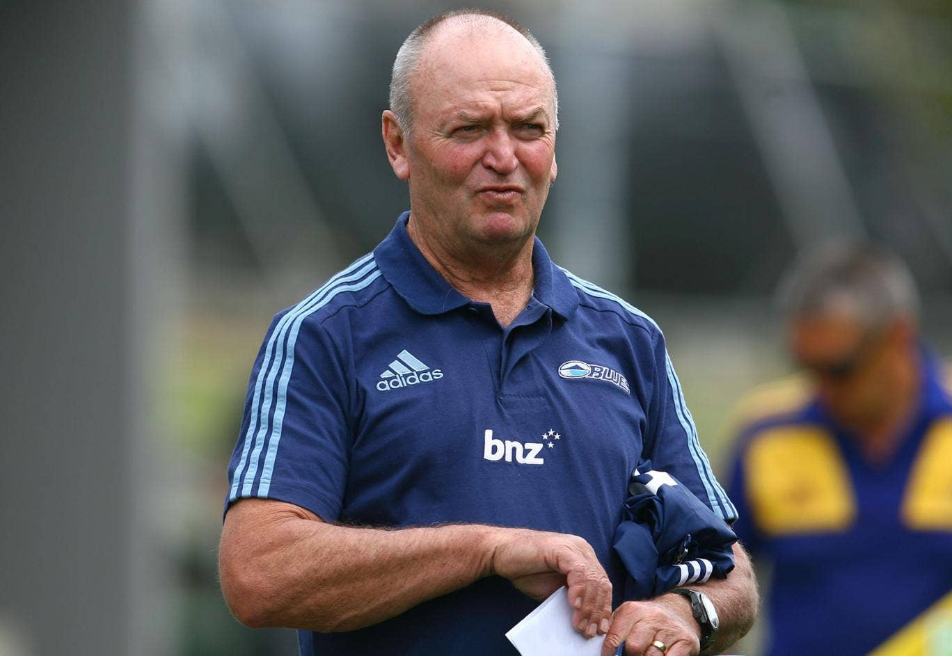 Auckland Blues defense coach Graham Henry may face disciplinary action over comments made about referee Glen Jackson