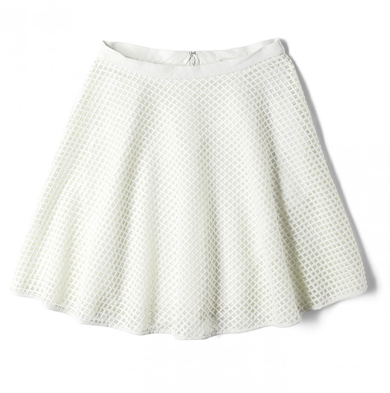 DKNY's lattice leather and tulle circle skirt, £265, my-wardrobe.com