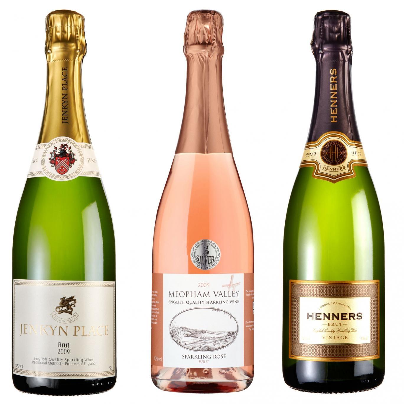 Jenkyn Place Brut 2009; Meopham Valley Rosé 2009; Henners Brut 2009