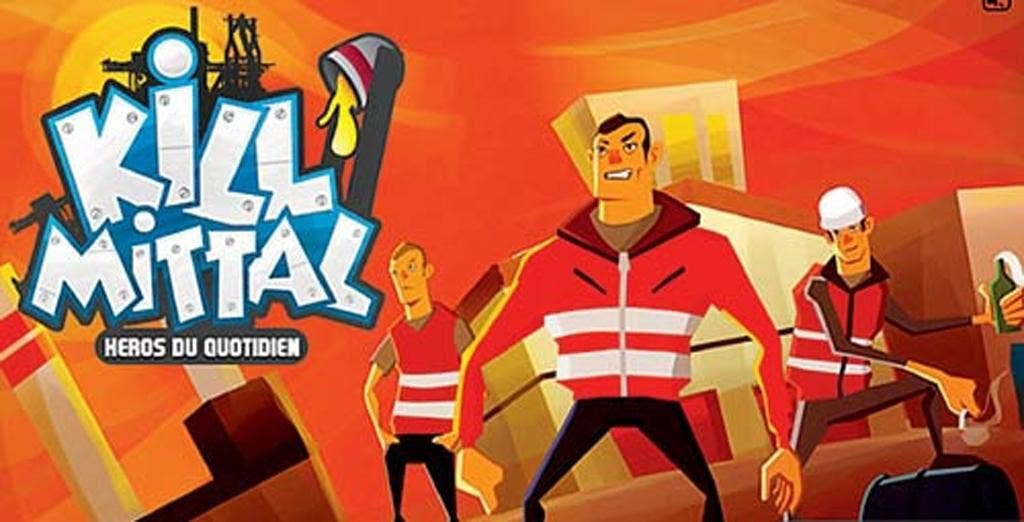 The 'Kill Mittal' video game takes place in an ArcelorMittal factory
