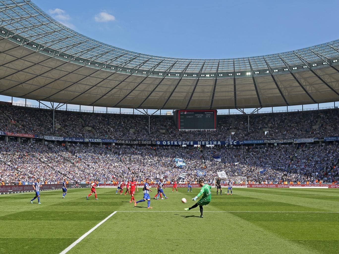 A view of the Olympic Stadium in Berlin