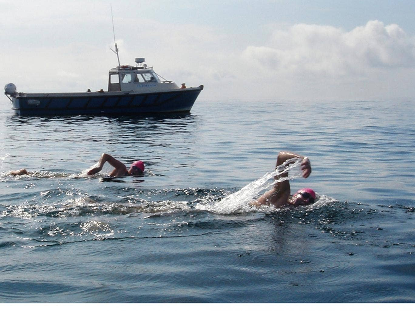 Chill factor: swimmers take on Corryvreckan