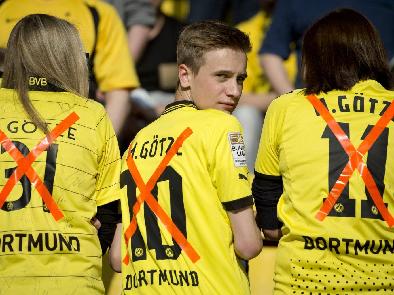 Dortmund fans have been upset by Mario Gotze's decision to join Bayern