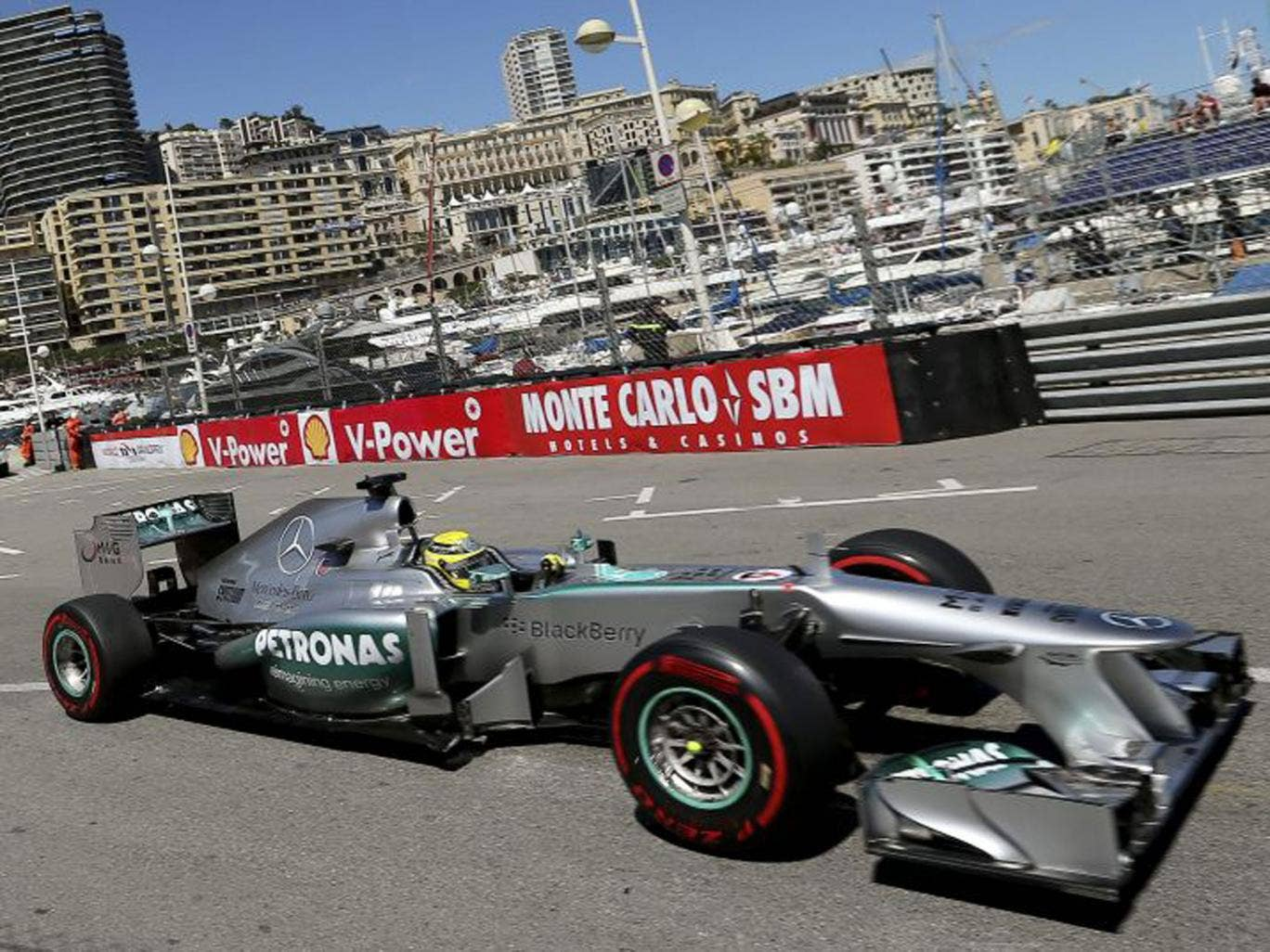 Nico Rosberg was once again faster than Lewis Hamilton in practice