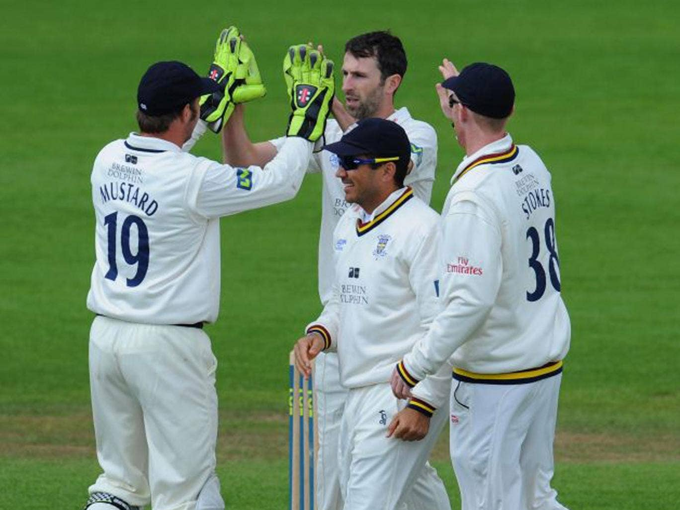 Graham Onions took five wickets including that of Joe Denly