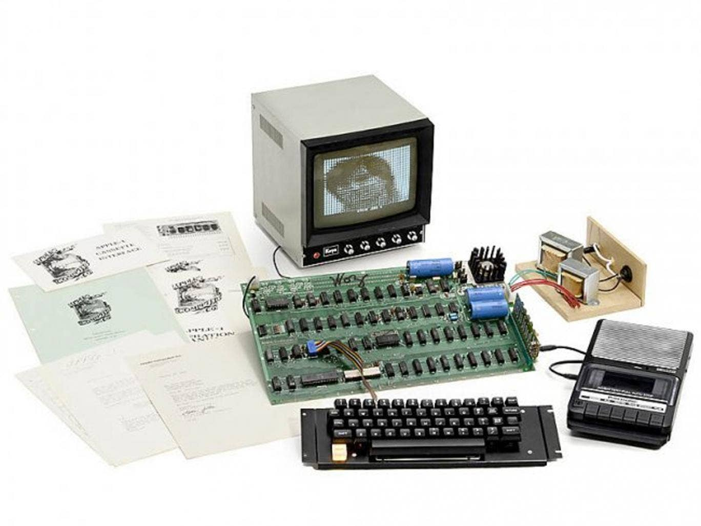 The Apple-1 computer being sold in Cologne tomorrow