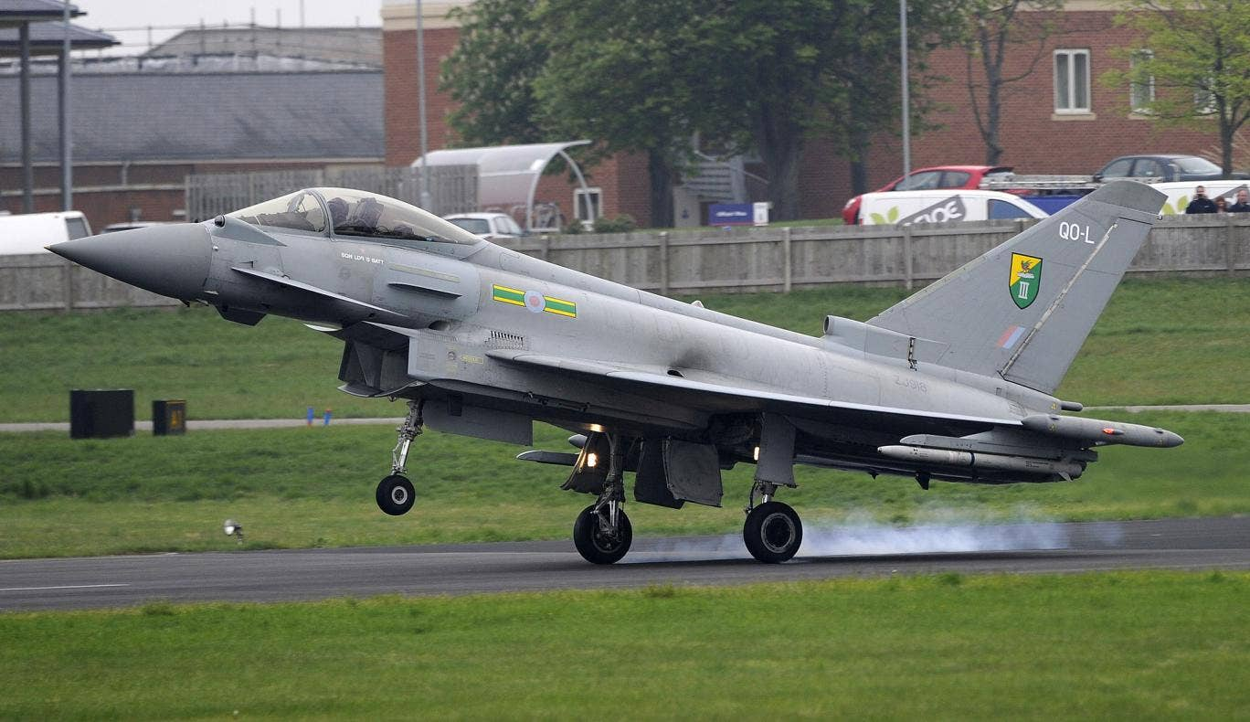 A Royal Air Force Typhoon jet (file photo)