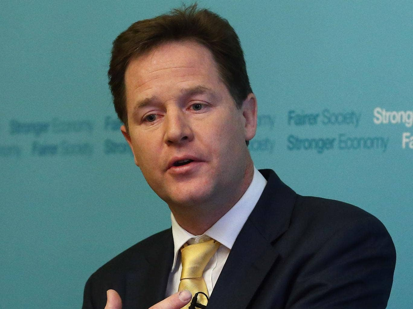 The speech should have been made by David Cameron. Revealingly, it was made by Nick Clegg