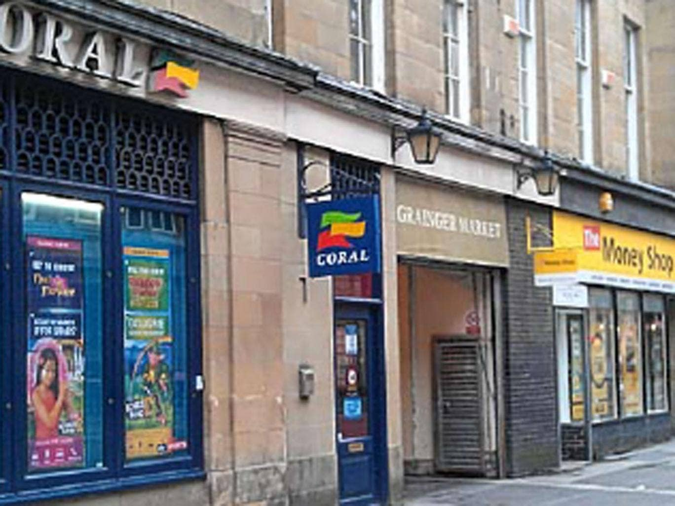 A bookmaker and a branch of The Money Shop almost cheek by jowl in a street in Newcastle