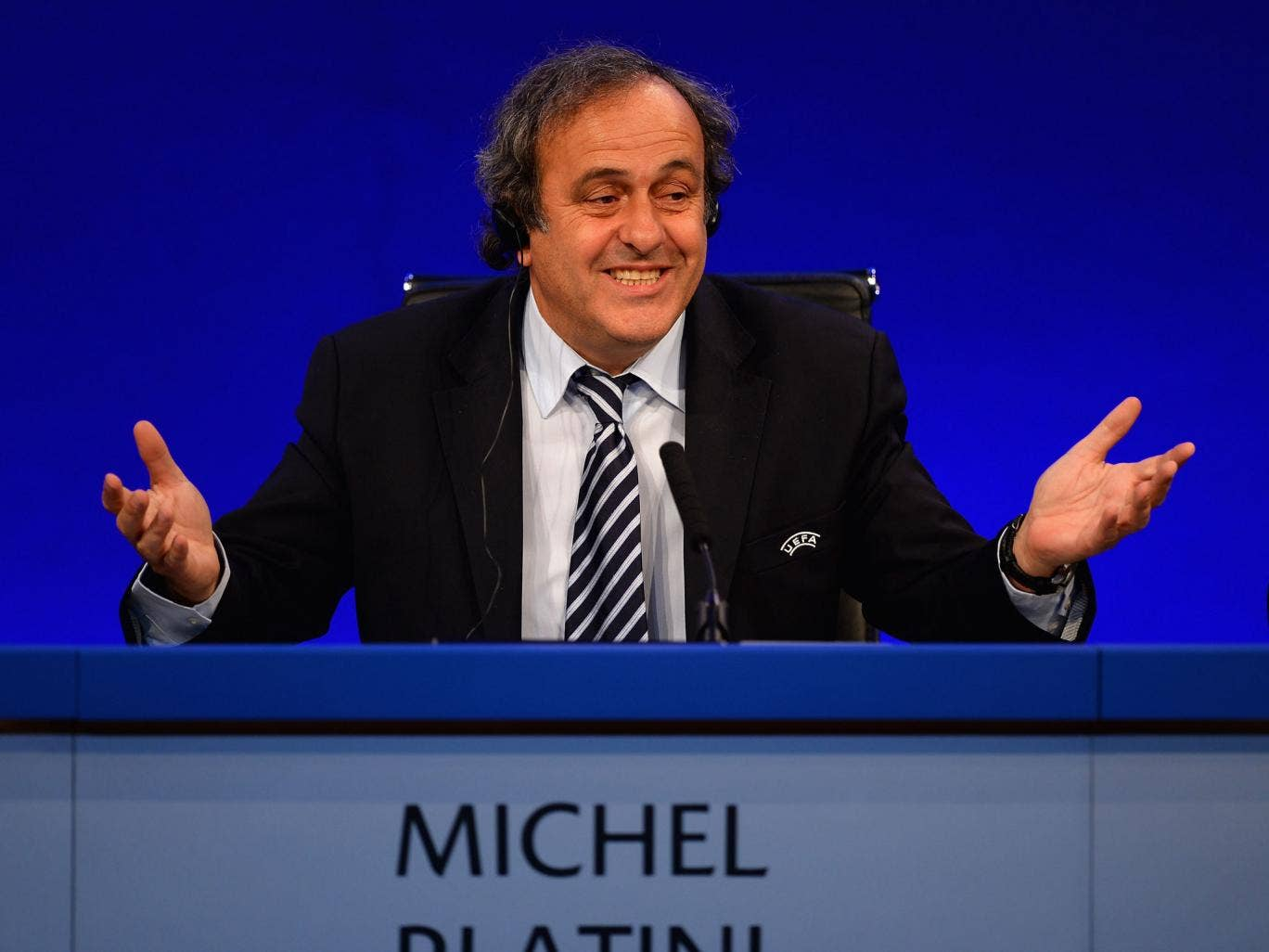 Your move: Michel Platini is being urged to switch the Under-21 venue
