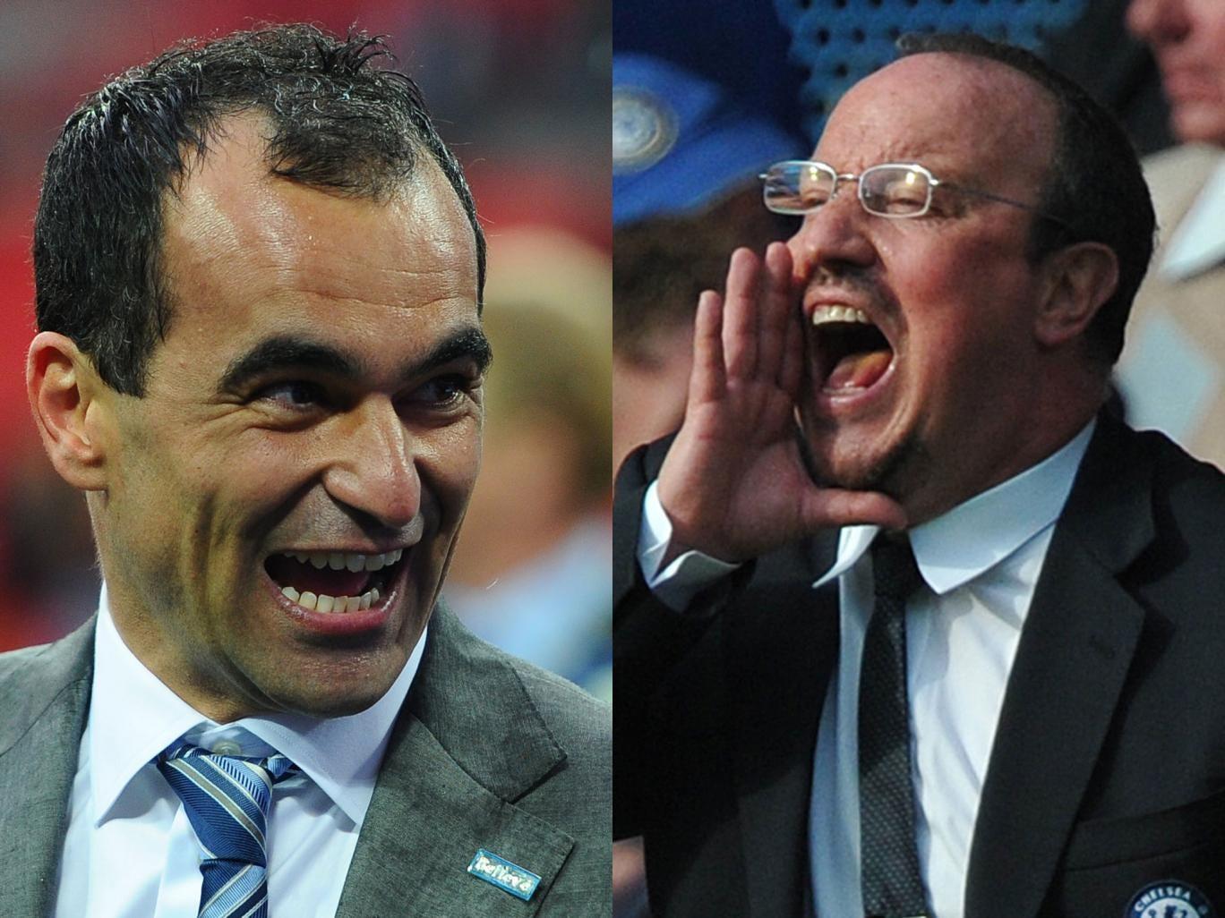 Roberto Martinez (l) and Rafa Benitez