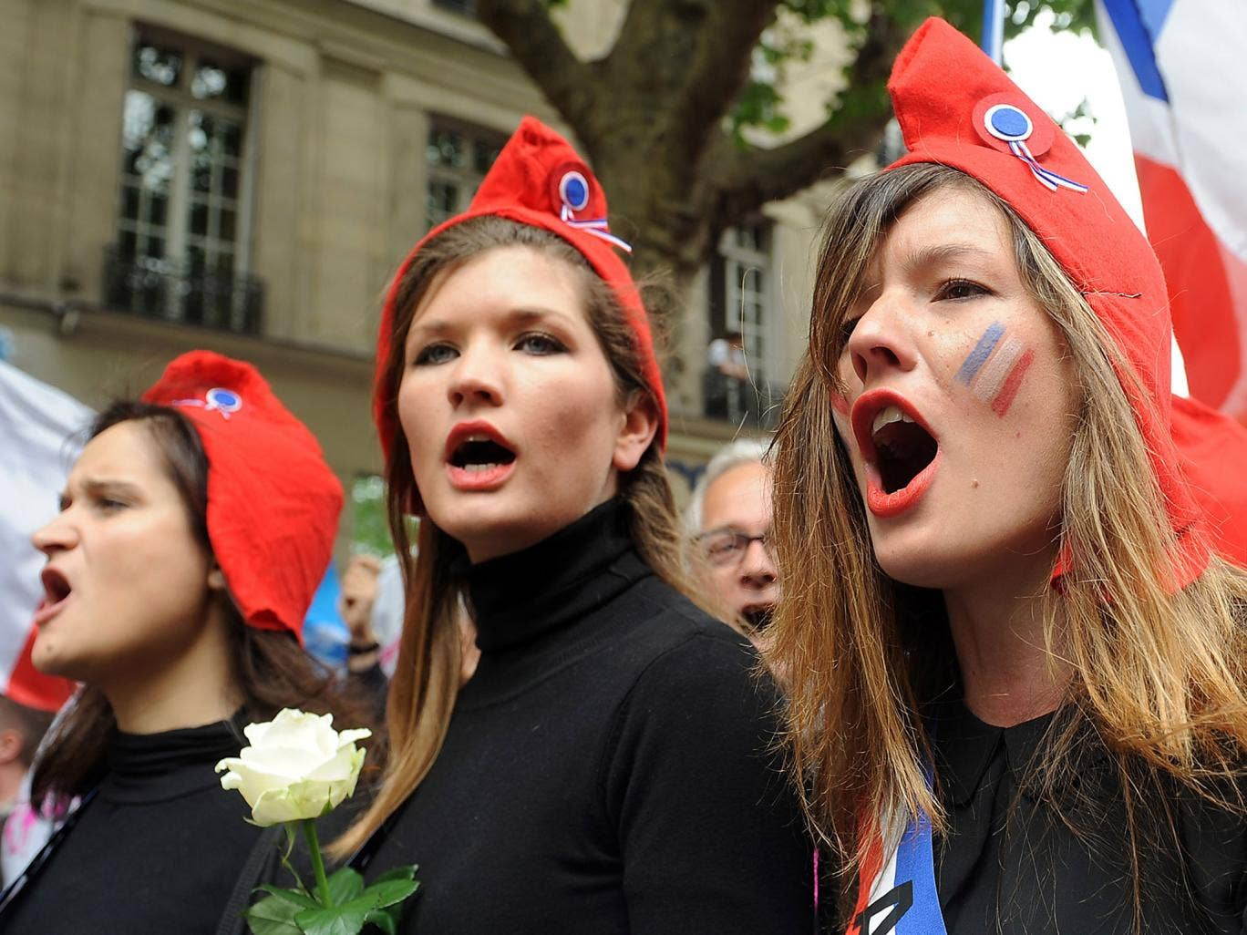 Activists against same-sex marriage took to the streets in Paris