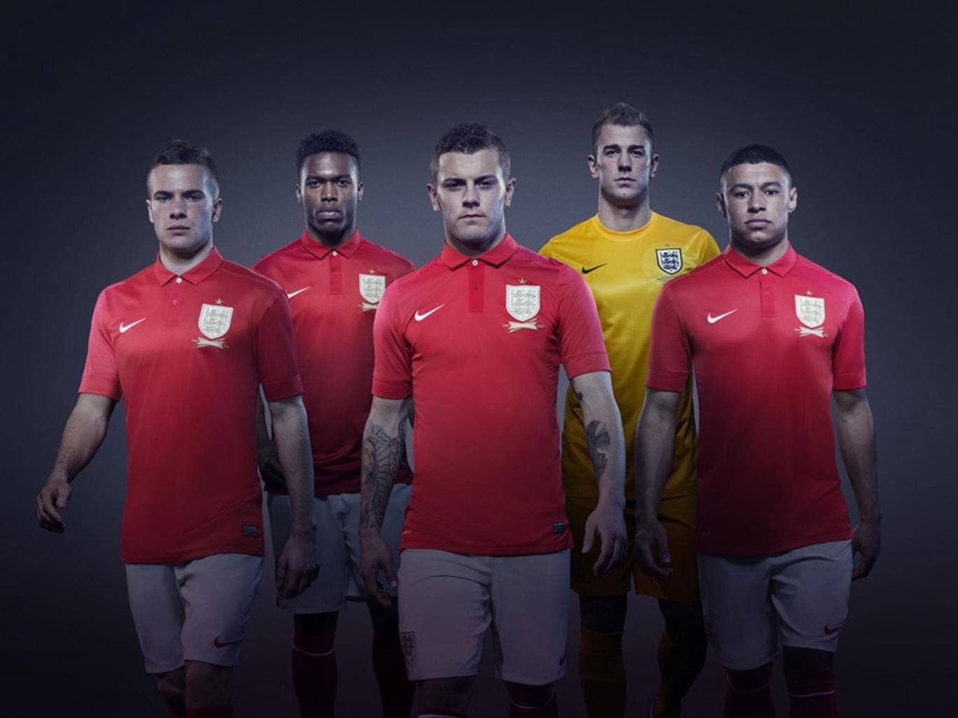 England's promotional photos for the new away kit focus on the younger players rather than the old guard