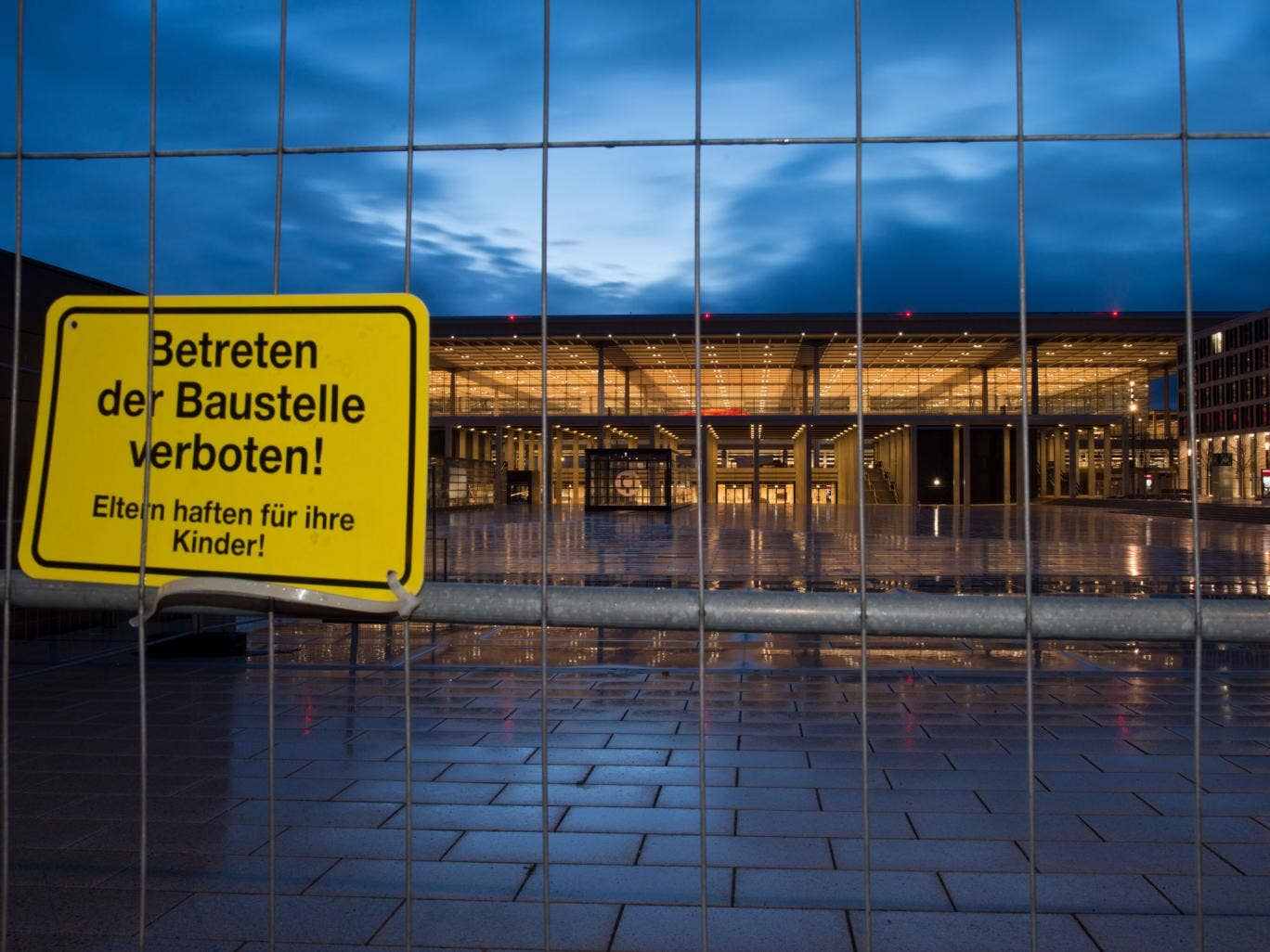 Berlin Brandenburg Willy Brandt airport's lights never shut off