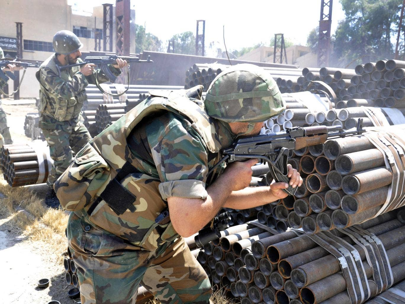 Syrian forces clashed with rebels in Aleppo