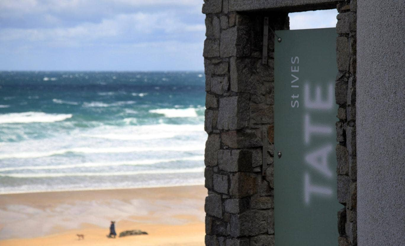 Tate St Ives caught fire yesterday but none of the artworks are thought to have been damaged.
