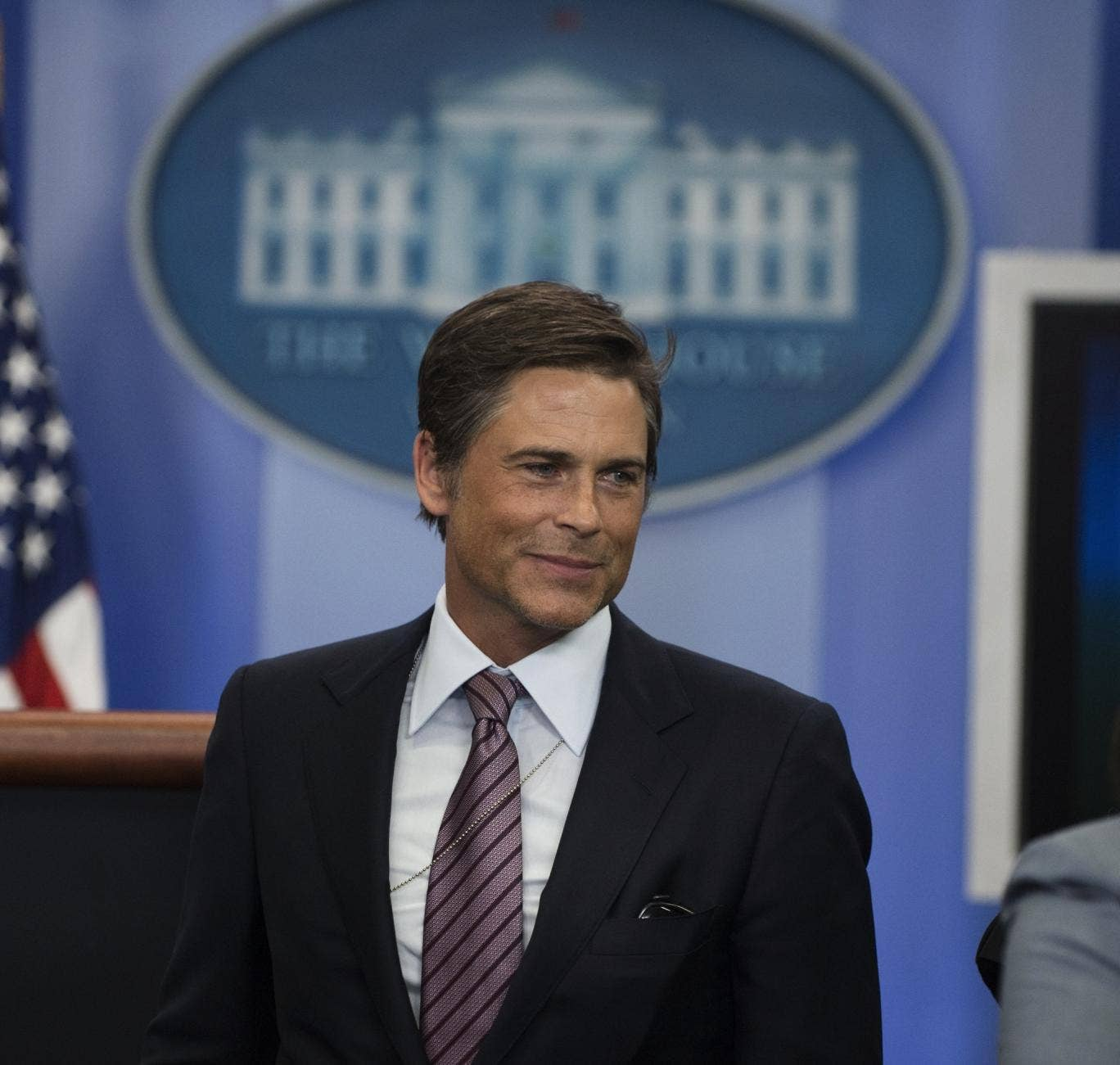 Actor Rob Lowe visits the White House earlier this year