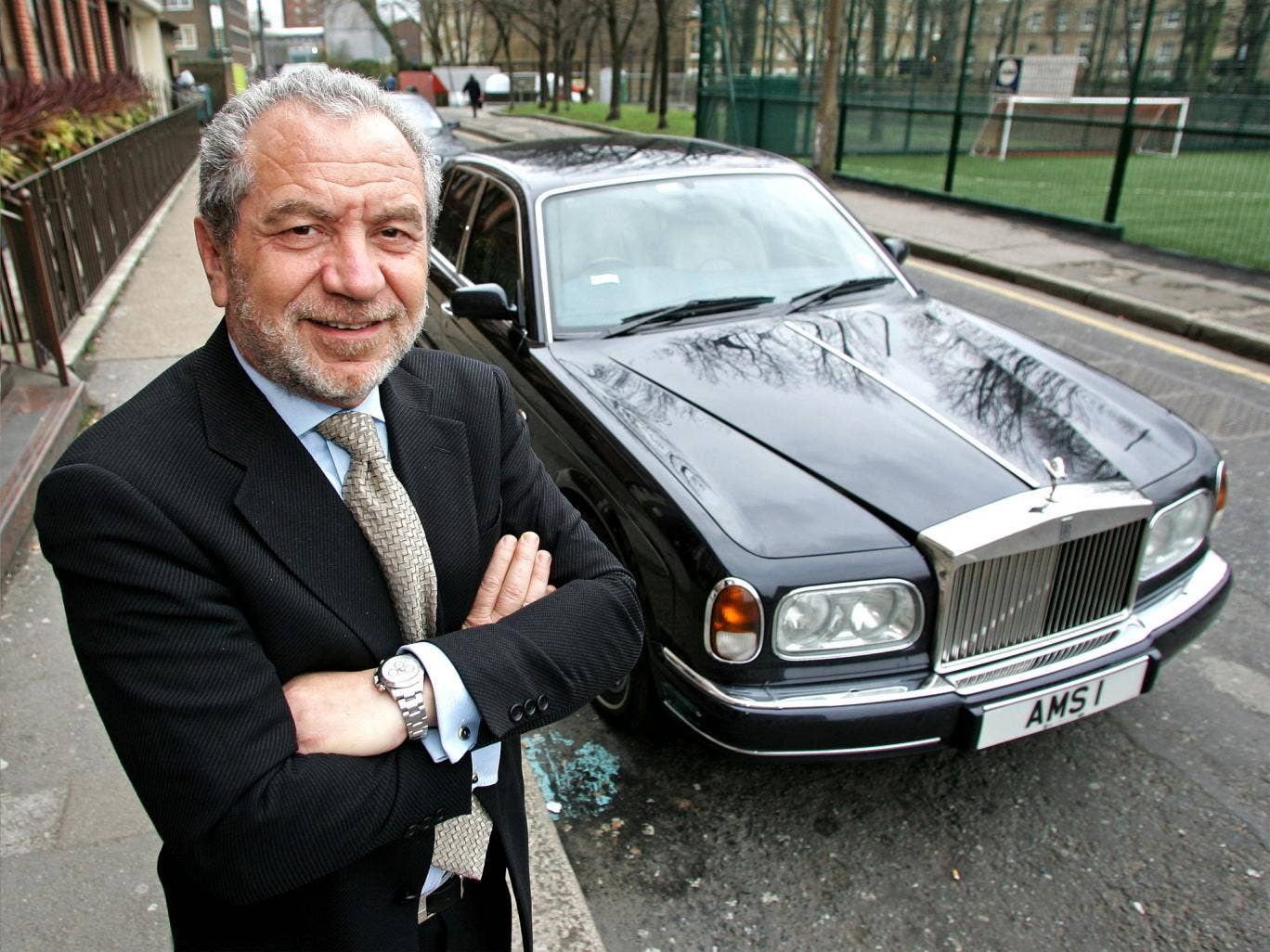 Sir Alan has swapped his old Rolls-Royce Phantom (pictured) for a cheaper model