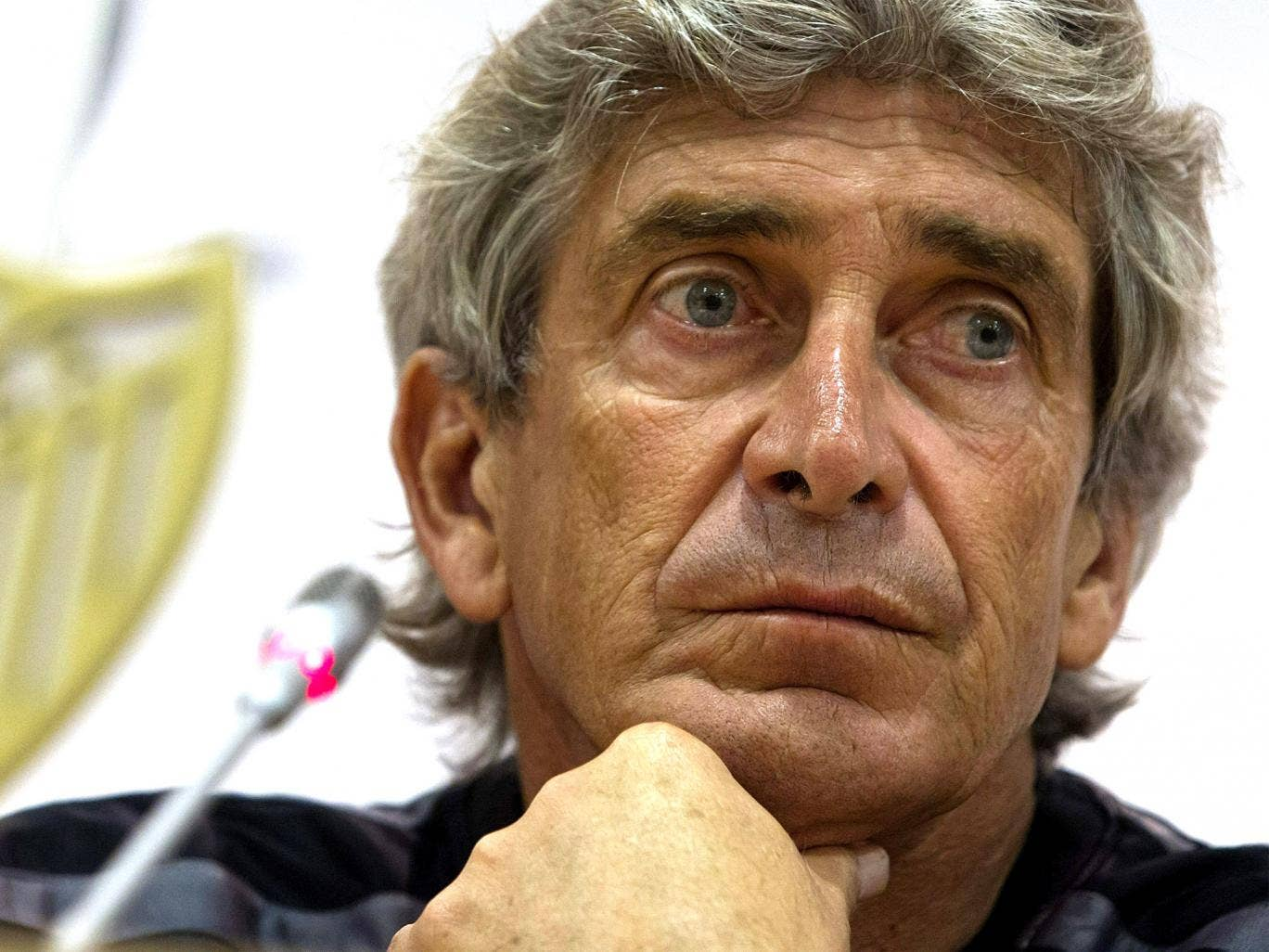 Manuel Pellegrini, pictured, will be happy to face Jose Mourinho if the Portuguese goes back to Chelsea